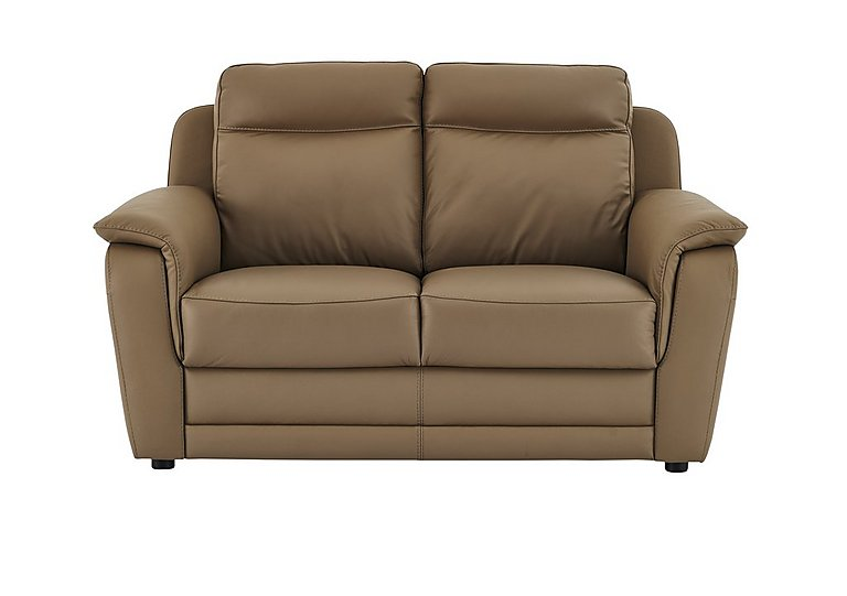 Tara 2 Seater Leather Recliner Sofa in 312 Taupe on FV