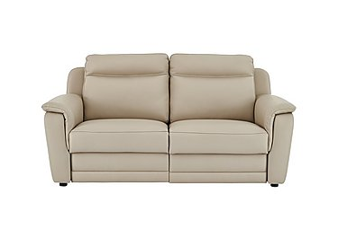 Tara 2.5 Seater Leather Recliner Sofa in 352 Fango on FV