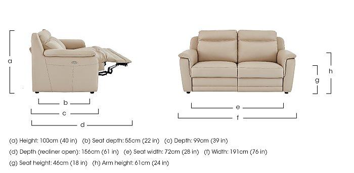 Tara 2.5 Seater Leather Recliner Sofa  in {$variationvalue}  on FV