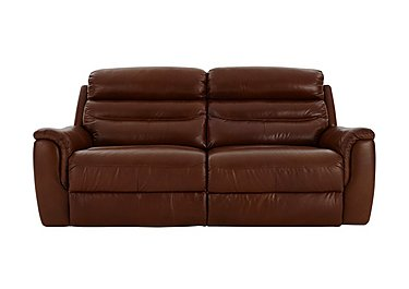 Tennessee 3 Seater Leather Recliner Sofa in 220/58 V Coll Saddle on FV