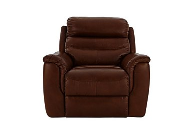 Tennessee Leather Recliner Armchair in 220/58 V Coll Saddle on FV