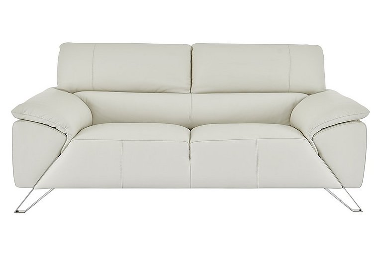 Tesla 2.5 Seater Leather Sofa in Dali 1514 Ghiaccio on FV
