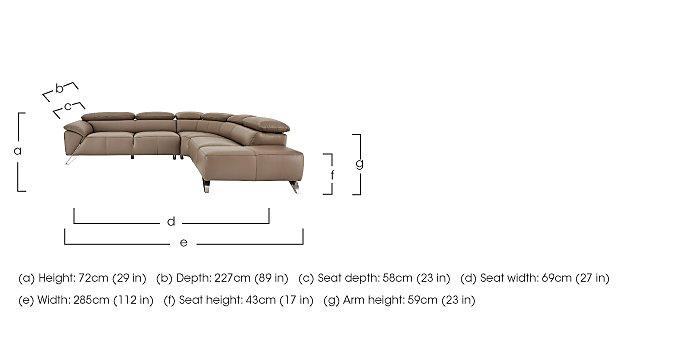 Tesla Leather Corner Sofa