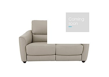 Trilogy 2 Seater Leather Recliner Sofa in Bv-946b Silver Grey on FV