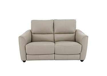 Trilogy 2 Seater Leather Recliner Sofa in Bv-946b Silver Grey on Furniture Village