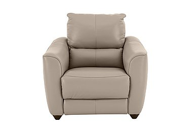 Trilogy Leather Recliner Armchair in An-940b Light Taupe on FV