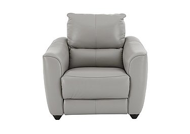 Trilogy Leather Recliner Armchair in Nc-946b Feather Grey on FV