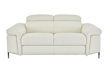 Vicenzi 2 Seater Leather Sofa in Torello Bianco Ottico on FV