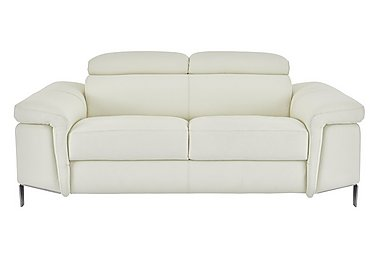 Vicenzi 2.5 Seater Leather Sofa in Torello Bianco Ottico on FV