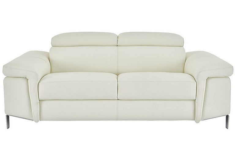 Vicenzi 3 Seater Leather Sofa in Torello Bianco Ottico on FV