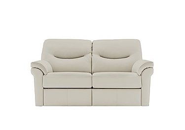 Washington 2 Seater Leather Recliner Sofa in P220 Capri Chalk on FV