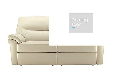 Washington 3 Seater Leather Recliner Sofa in P220 Capri Chalk on FV
