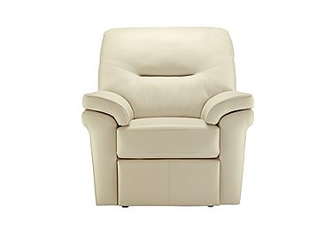 Washington Leather Recliner Armchair in P220 Capri Chalk on FV