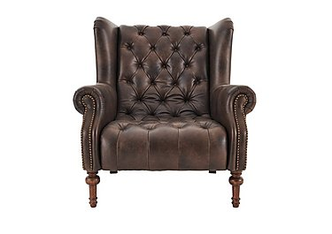 New England Windham Leather Armchair