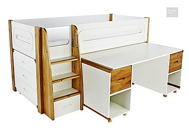 Corvo Midsleeper with Pull Out Desk and 3 Drawer Chest  in {$variationvalue}  on FV
