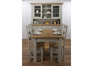 Bordeaux Painted Large Extending Oak Dining Table in  on FV