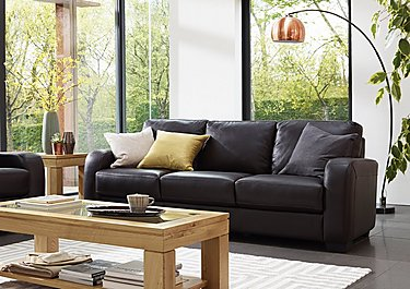 Astor 2.5 Seater Leather Sofa Bed in  on Furniture Village