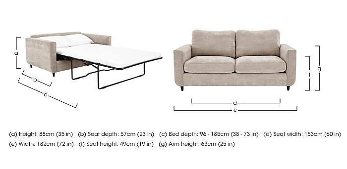 Esprit 3 Seater Fabric Sofa Bed in  on FV