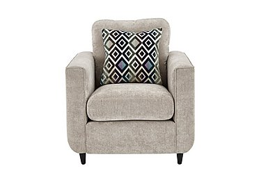 Esprit Fabric Armchair in Silver Ebony Feet on FV