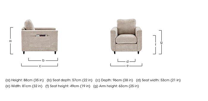 Esprit Fabric Armchair in  on FV