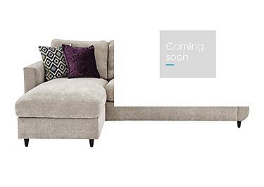 Esprit Fabric Chaise Sofa Bed with Storage in Silver Ebony Feet on FV