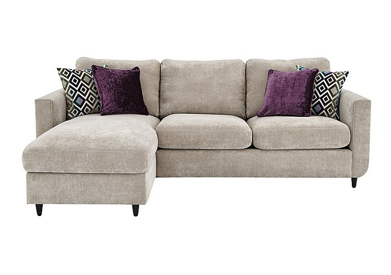 Esprit fabric chaise sofa bed with storage furniture village for Furniture village beds
