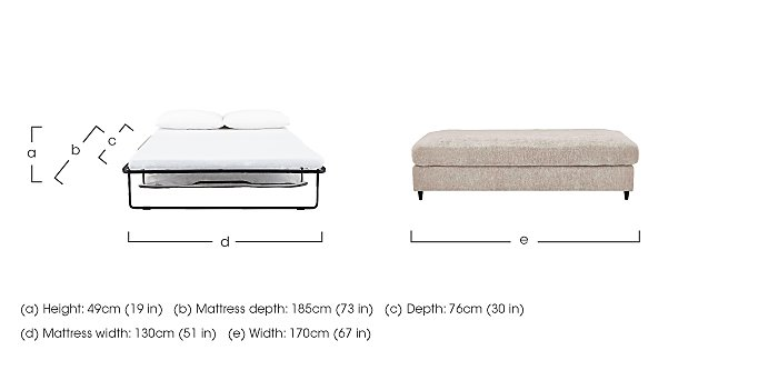 Esprit Large Fabric Stool Bed in  on FV