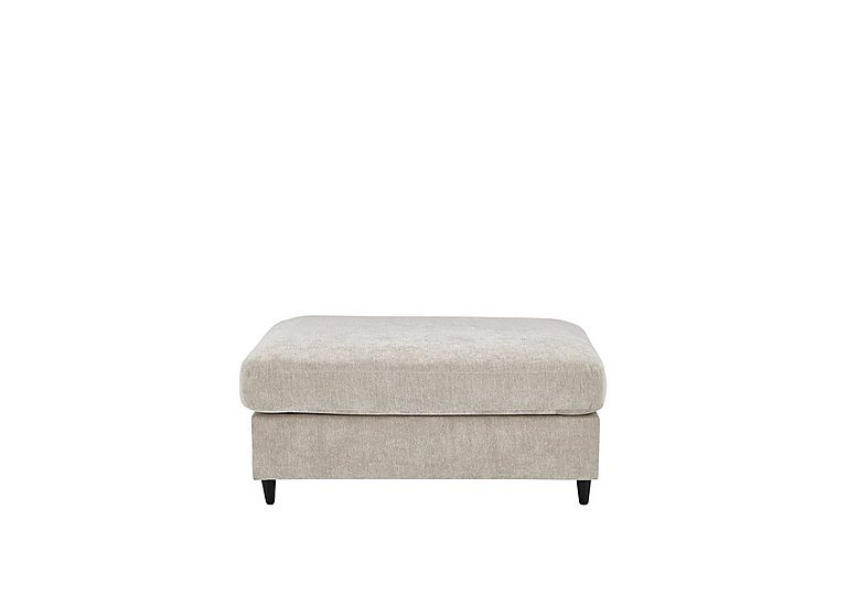 Esprit Small Fabric Stool Sofa Bed in Silver Ebony Feet on FV