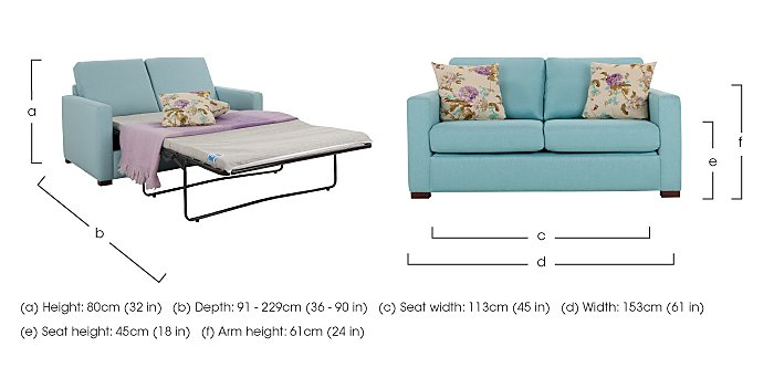 Petra 2 Seater Fabric Deluxe Sofa Bed in  on FV