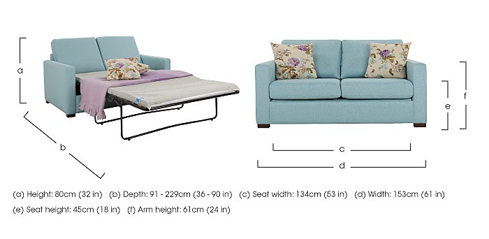 Petra 2 Seater Fabric Sofa Bed in  on FV