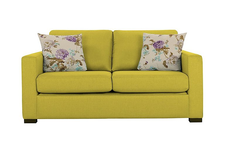 petra 2 seater fabric sofa bed in marbella lime 06 on fv