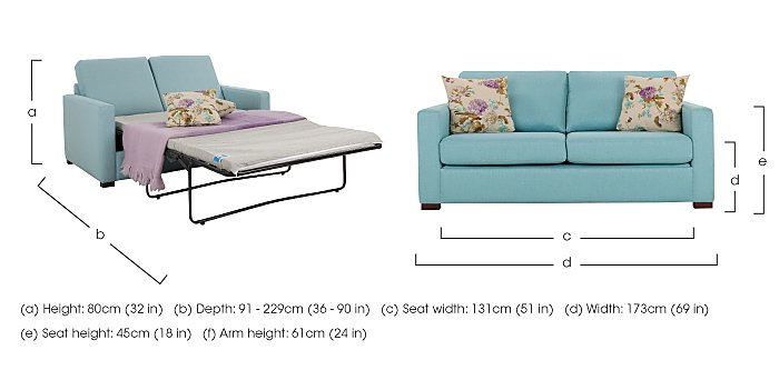 Petra 3 Seater Fabric Deluxe Sofa Bed in  on FV