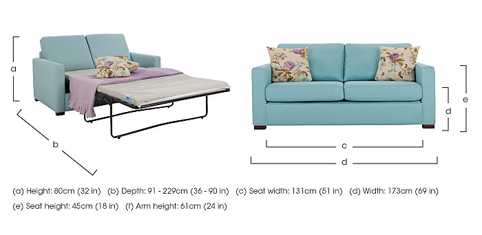 Petra 3 Seater Fabric Sofa Bed in  on FV