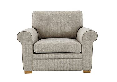 Reigate Fabric Armchair in A363 Beige Light Natural Feet on FV