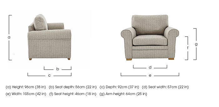 Reigate Fabric Armchair  in {$variationvalue}  on FV