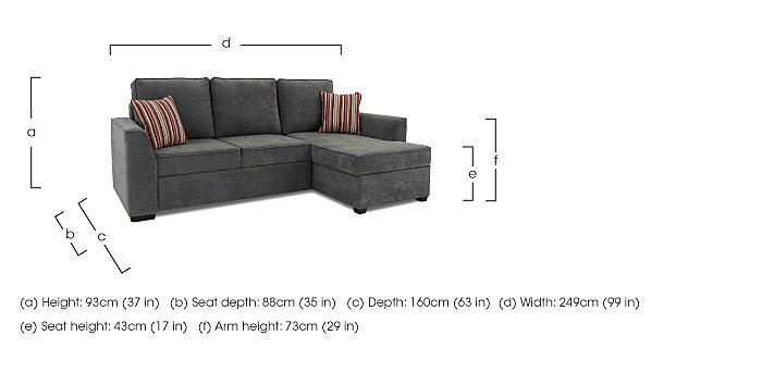 Studio 3 Seater Fabric Sofa Bed