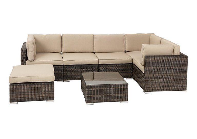 lagoon rattan corner lounge set furniture village. Black Bedroom Furniture Sets. Home Design Ideas