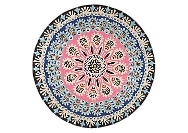 Peacock Round Wool Rug in  on FV