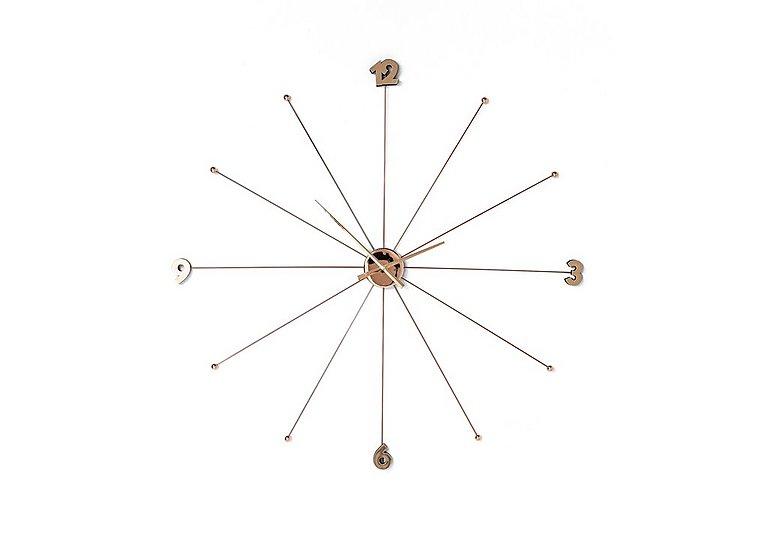 Slim Wall Clock in Rose Gold on FV