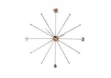 Slim Wall Clock in Rose Gold on FV