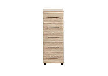 Amari 5 Drawer Narrow Chest in Kkv - King Oak on FV