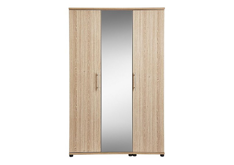 Amari 3 Door Centre Mirror Wardrobe in Kkv - King Oak on FV