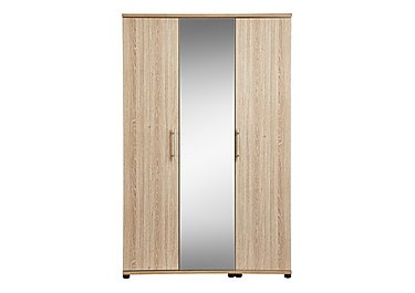 Amari 3 Door Centre Mirror Wardrobe in Kkv - King Oak on Furniture Village
