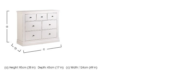Ambriella 7 Drawer Chest in  on FV