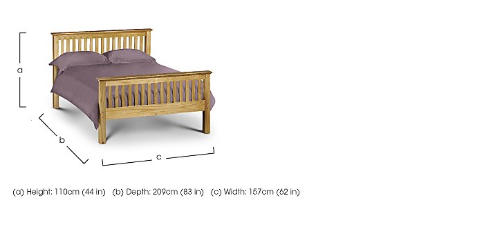 Chilton Pine High End Bed Frame in  on FV