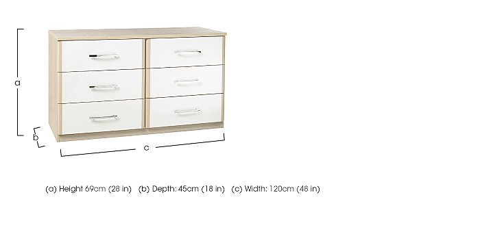 Kingsley 6 Drawer Chest  in {$variationvalue}  on FV