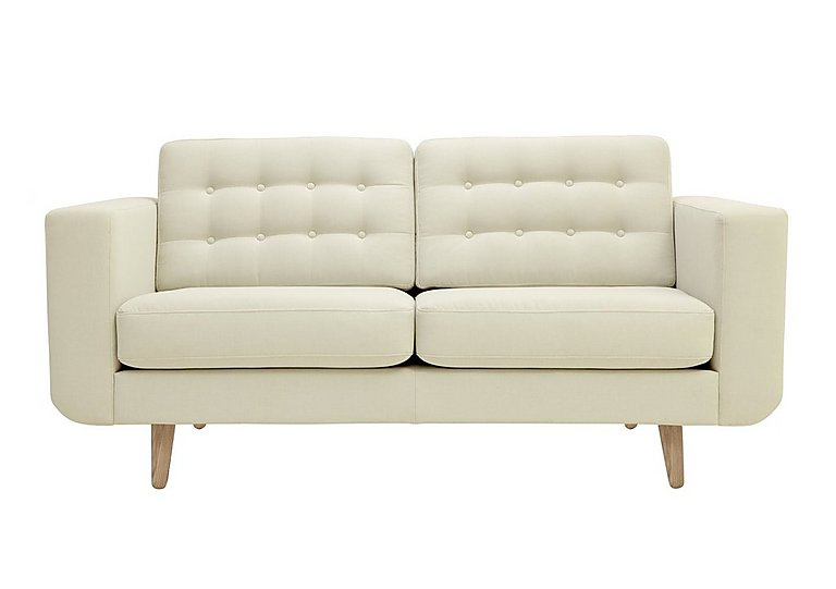 Alva 2 Seater Fabric Sofa in Amafli-19205 Sand-Natural Feet on FV