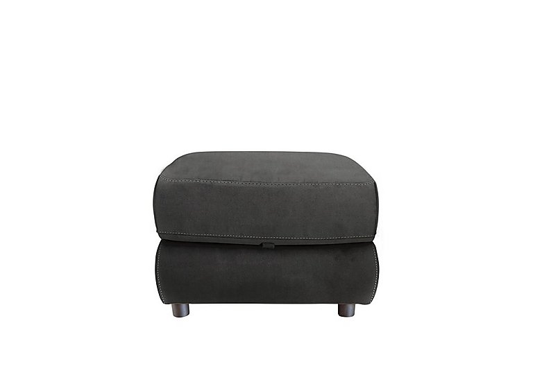 Arizona Fabric Storage Footstool in Bfa-Blj-R16 Grey on Furniture Village