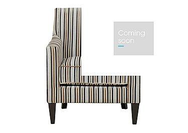 Baxter Fabric Armchair in Silver 069617 Dark Wood on FV