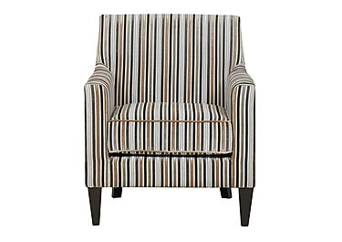 Baxter Fabric Armchair in Silver 069617 Dark Wood on FV